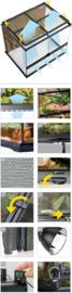 Exo Terra Terrarium 45x45x60cm - incl. achterwand - €164,95