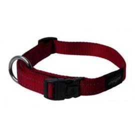 Rogz halsband Nitelife 20-31cm rood