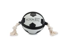 Action Voetbal Met Touw - Hondenspeelgoed - 19 cm