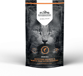 Riverwood Kat Graanvrij, Derma (Zalm, Witvis en Haring) 300 gram