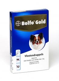 Bolfo Gold Hond 40 (tot 4 kg) 2 pipetten