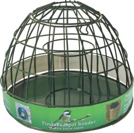 Pindakaaspot Houder Metaal Groen voor Kleine Vogels, 25x19 cm