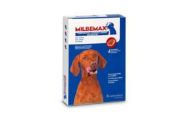 Milbemax Kauwtabletten Middel en Grote Hond 4st (5-75kg)