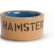 Hamster eetbak steen bruin 11cm