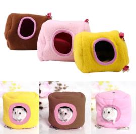 Hamsterhuis klein 8x8x9 cm diverse kleuren