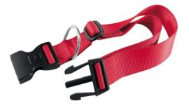 Klikhalsband nylon xs/s rood 23-32x1,0 cm