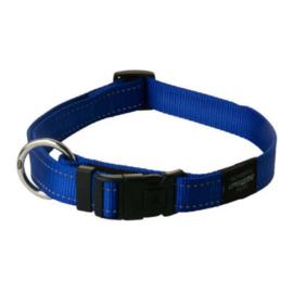 Rogz halsband Nitelife 20-31cm blauw