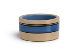 Universele voerbak blauw band 12cm