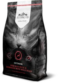 Riverwood Kat Graanvrij, Outdoor (Eend, Rendier en Wild Zwijn) 6kg