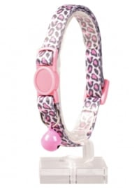 Kattenhalsband Panter Nylon Roze 20-30cm/10mm