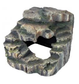 Hoek-Rots met Schuilplaats & Platform Regenwoud Medium - 19x17x17cm