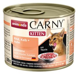Carny Kitten Rund, Kalf & Kip 200gr