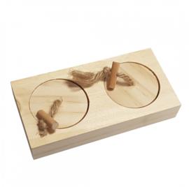 Knaagdierspeelgoed Houten Sniffle `n Snack Puzzel Cas 12x6x2,5cm
