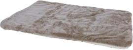 Plaid Supersoft 2-zijdig Taupe/Beige, 100x75cm