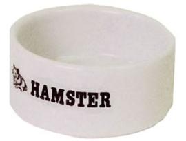 Hamster Eetbak Steen Wit 9cm