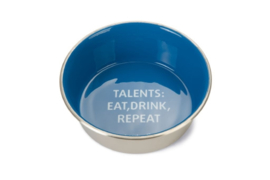 Voer- en Drinkbak Talents - Hond - RVS - Blauw - 16cm