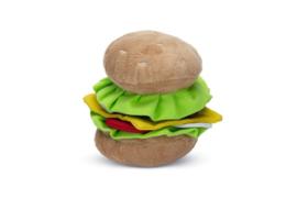 Hondenspeelgoed Burger - Pluche - 14x12,5x11 cm