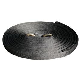 Longeerlijn Soft 8 meter zwart