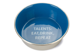 Voer- en Drinkbak Talents - Hond - RVS - Blauw - 20cm
