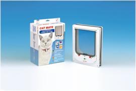 Catmate Kattenluik Electromagnetische Kattendeur Grote Kat Wit