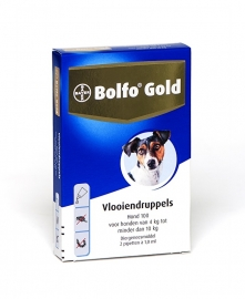 Bolfo Gold Hond 100 (4 tot 10 kg) 2 pipetten