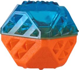 Hondenspeelgoed Koel-Bal Vulbaar 9 cm - Blauw/Oranje.