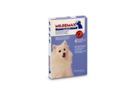 Milbemax Kauwtabletten Kleine Hond en Puppy 4st (1-5kg)