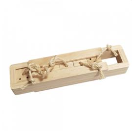 Knaagdierspeelgoed Houten Sniffle `n Snack Puzzel Amy 37x8,5x6,5cm