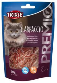Carpaccio Kattensnack Graanvrij/Glutenvrij Eend & Vis 20 gram