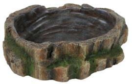 Water- en Voerschaal Regenwoud Medium - 18 x 4,5 x 17 cm