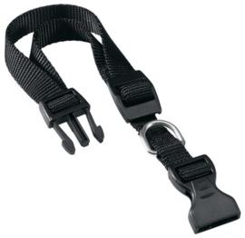 Klikhalsband nylon l/xl zwart 45-70x2,5 cm
