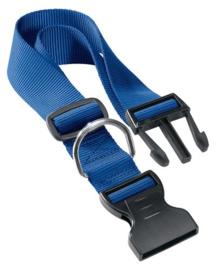 Klikhalsband nylon m/l blauw 36-56x2,0 cm