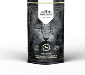 Riverwood Kat Graanvrij, Sterilised (Hert, Lam en Wild Zwijn) 300 gram