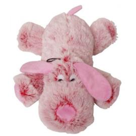 Knuffel Harige Hond Roze 35cm