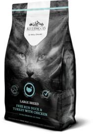 Riverwood Kat Graanvrij, Large Breed (Kip, Eend en Kalkoen) 6kg
