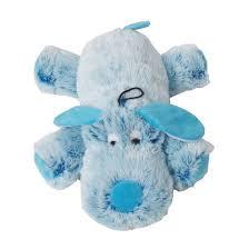 Knuffel Harige Hond Blauw 35cm