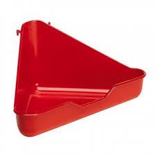 Toilet voor kleine knaagdieren, hoekmodel, rood
