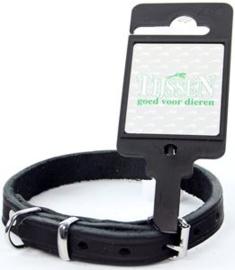 Halsband Vetleer Zwart 12mmX30cm