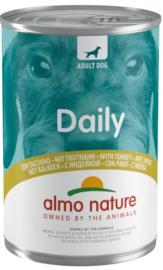 Almo Nature Daily Blik Hond Kalkoen 400gr