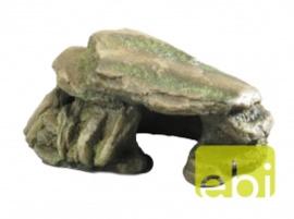 Decoratie steen met mos Groen S - 15CM