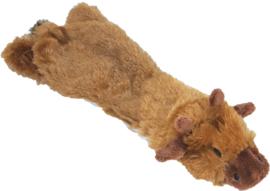 Hondenspeelgoed Eland Plat Pluche bruin 55 cm zonder piep