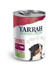 Yarrah Biologisch Hondenvoer Chunks met Kip en Rund 405gr
