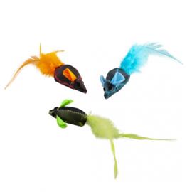 Flash Muizen met Veren 3 stuks