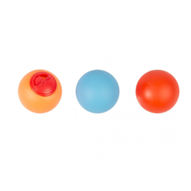Vinyl treat ball blauw/orange/rood