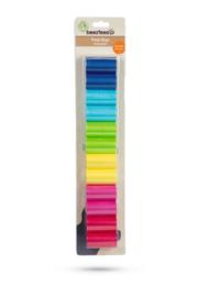12 poepzakjes, regenboogkleuren