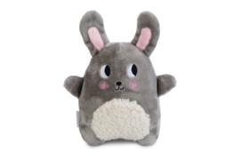 Puppy Snoet Pluche - Hondenspeelgoed - Grijs - 25x20x7,5 cm