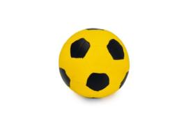 Latex Voetbal Zwart/Geel 8cm