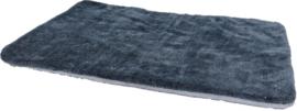 Plaid Supersoft 2-zijdig Lichtgrijs/Grijs, 100x75 cm