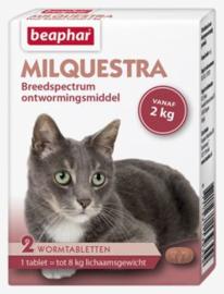 Milquestra Wormtabletten Kat 2 tabl.