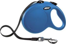 Flexi Rollijn New Classic M Tape Blauw 5 m